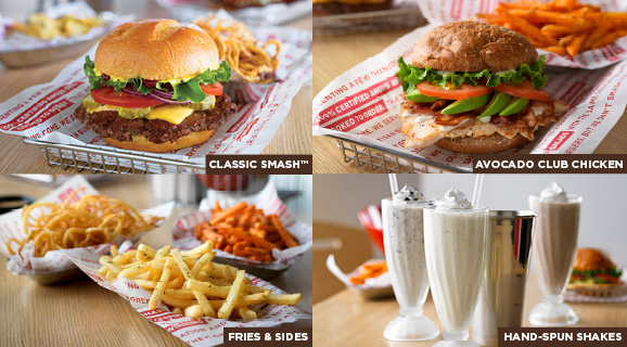Classic Smash™ | Avocado Club Chicken | Fries & Sides | Hand-Spun Shakes