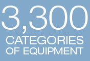 3,300 Categories of Equipment